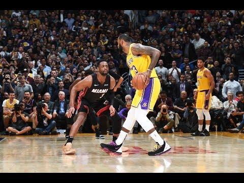 Throwin' It Back - LeBron James & Dwyane Wade Hug And Exchange Jerseys