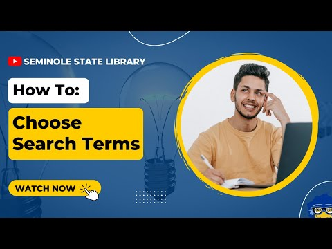 Choosing Search Terms
