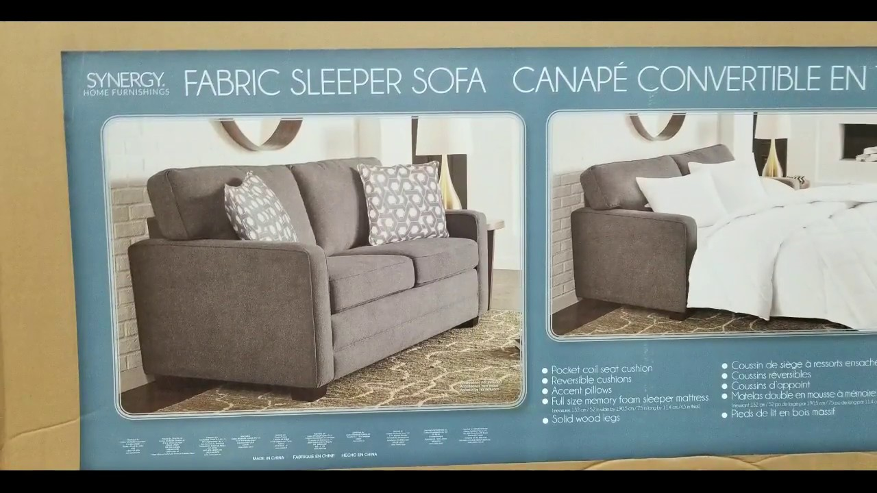 Costco Fabric Sleep Sofa Synergy Home 599 Youtube