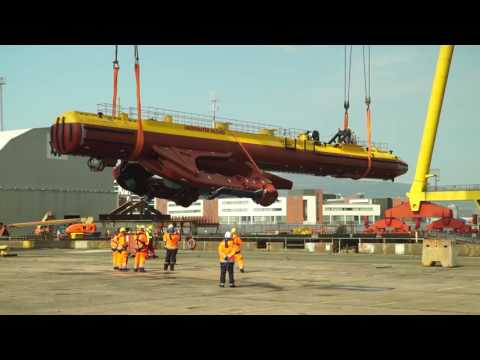SR2000 Tidal turbine launch