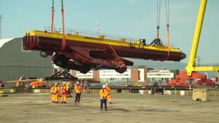 SR2000 Tidal turbine launch