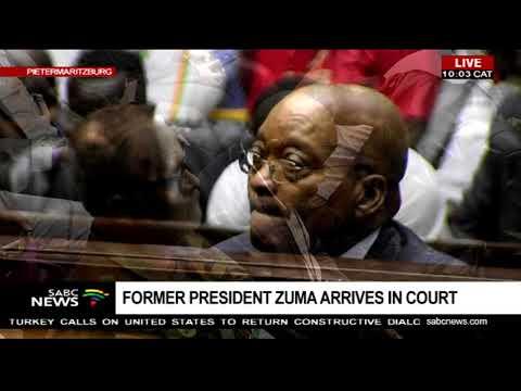 Zuma appears before the Pietermaritzburg High Court