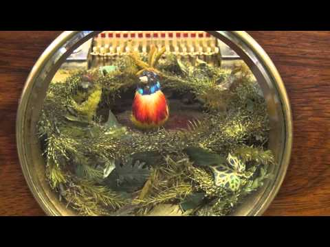 Antique Piece a Oiseau: Full Orchestral Singing Bird Automaton Music Box