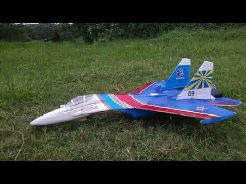 Membuat pesawat RC sukhoi SU27 russian knight gabus Build log