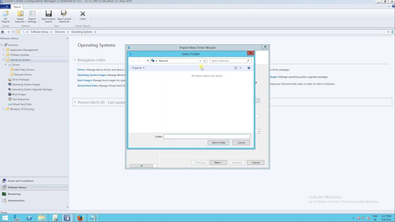 SCCM CB 1606 - Import video drivers to System center configuration manager  and add to task sequence