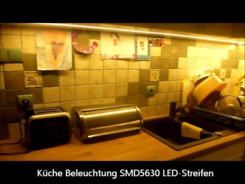 k che beleuchtung smd5630 led streifen youtube. Black Bedroom Furniture Sets. Home Design Ideas