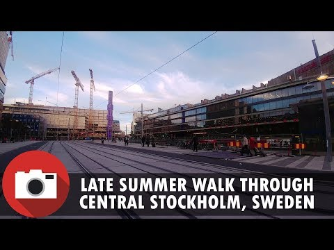 A summer walk through central Stockholm, Sweden - 4K