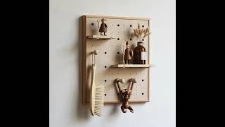 우드 타공 보일러가리개 벽에 붙이는 선반 벽장식 액자