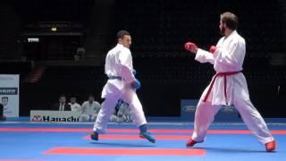 49th European Senior Karate Championship. Male team kumite. Final  Azerbaijan - Turkey