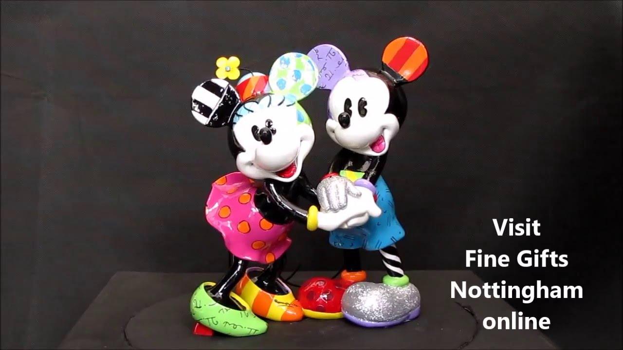 Disney Britto Mickey & Minnie Mouse Figurine - Disney Showcase ...