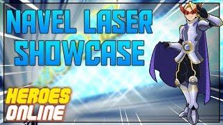 NAVAL LASER SHOWCASE | HEROES ONLINE | ROBLOX