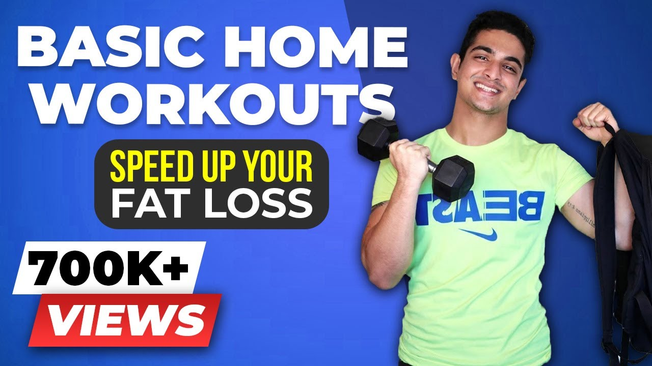 Basic HOME WORKOUT for FAST Fat Loss for Men & Women | BeerBiceps