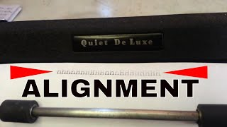Royal Quiet De Luxe Typewriter Adjustment Print Quality Height Balance On-Feet Shift Motion
