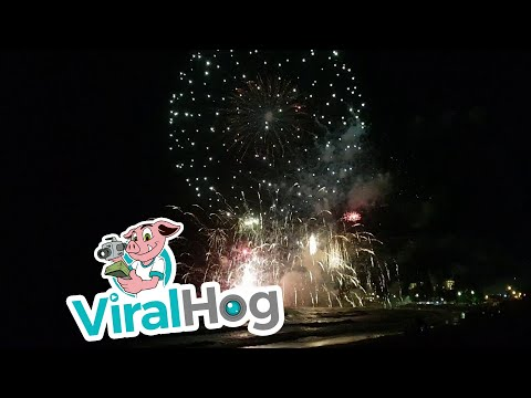 The Moment the Fireworks Barge at Terrigal Beach Exploded || ViralHog