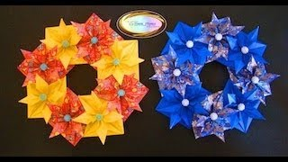 Origami Maniacs 93: Beautiful Christmas Wreath......