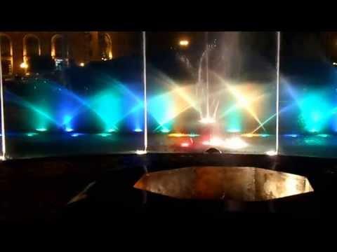 Поющие фонтаны в центре Еревана