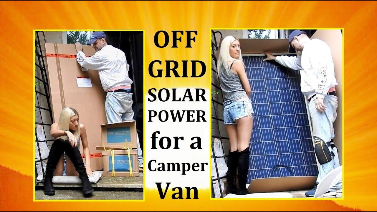 Off Grid Solar Power Kit UNBOXING -- PLEASE READ DESCRIPTION ! Vanlife  CamperVan