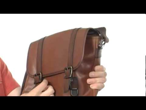 Fossil - Estate Leather E W City Bag SKU  8063358 - YouTube 4a5e12fed7973