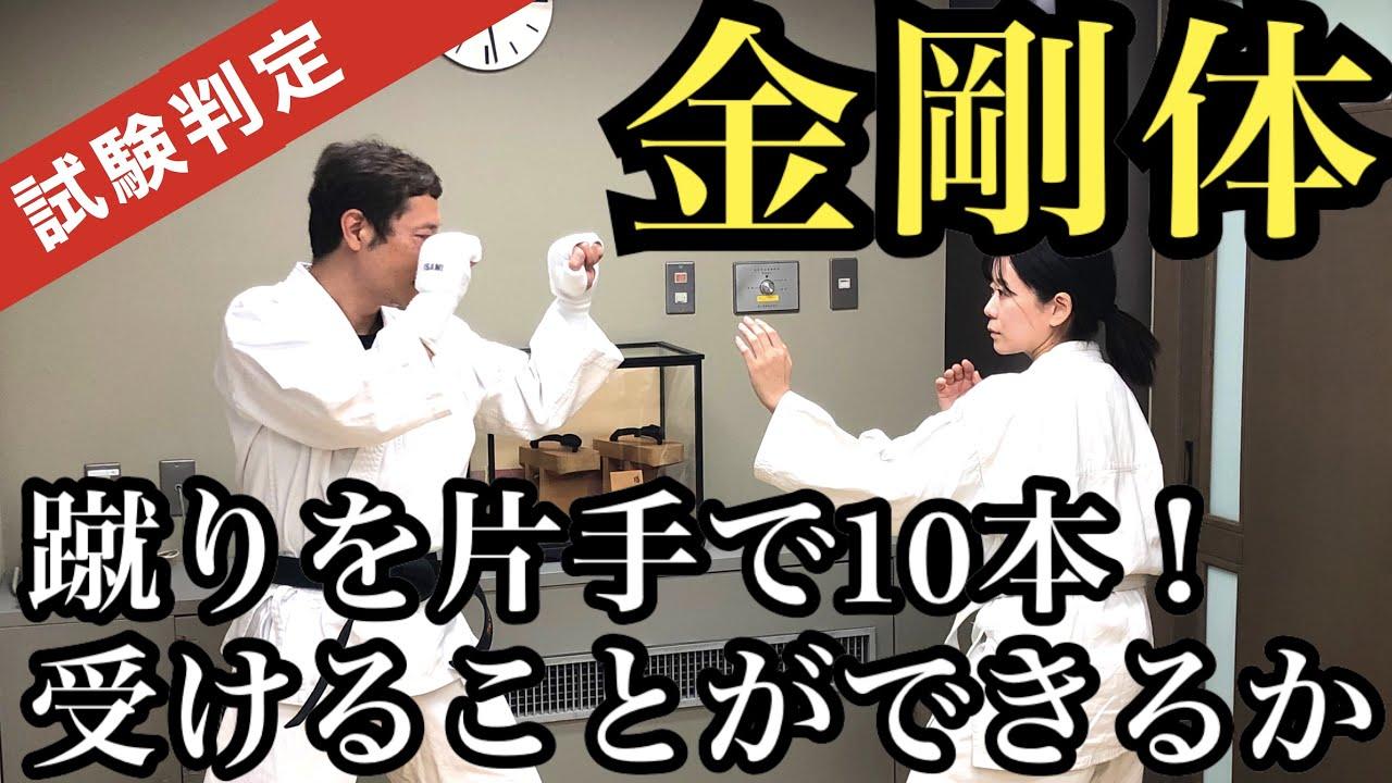 【金剛体】~試験判定~蹴りを10本片手で受けさばくことができるか!?