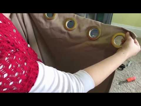 HOW TO make curtains with grommets EASY DIY - YouTube
