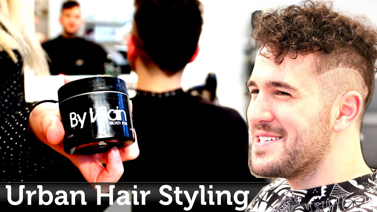 Men\'s Hair Inspiration | Urban & Edgy Hairstyle | Curly Texture ...