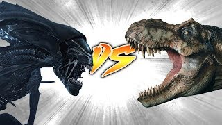 T. rex VS Queen Alien [Who Would Win?]