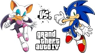 sonic vs rouge the bat sonic the hedgehog