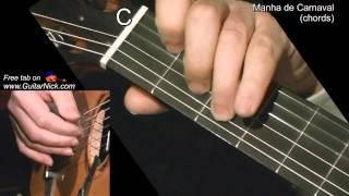 MANHA DE CARNAVAL (chords): Guitar lesson + TAB by GuitarNick