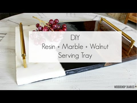 Resin + Wood + Marble DIY Serving Tray