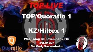 TOP/Quoratio 1 tegen KZ/Hiltex 1, woensdag 30 november 2016