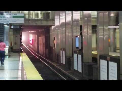 MBTA Orange line entering North Station. 7/25/17