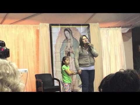 Sandy Caldera y la pequeña Ximena en Guadalupe Radio
