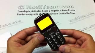 Móvil con Gps localizador SOS Teleasistencia en MovilTecno.com
