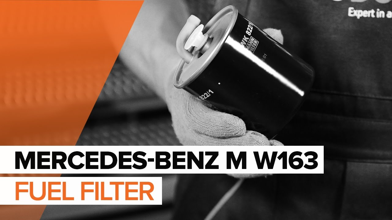 medium resolution of how to replace fuel filter on mercedes benz m w163 tutorial autodoc youtube