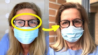 How to use a mask without fogging your glasses. 2 Anti-fog tricks