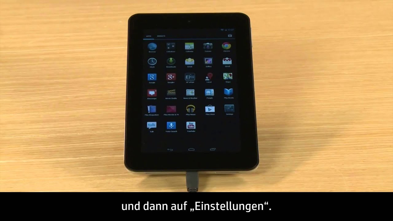 Zurücksetzen des HP Slate Tablet mit Android auf die Werkseinstellungen