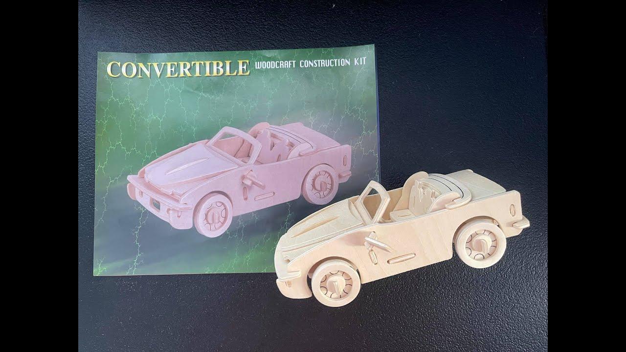 DIY Convertible Car | DIY 3D Woodcraft Construction Kit