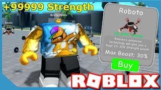 Ho comprato il miglior animale domestico e diventare il più forte in Roblox Weight Lifting Simulator
