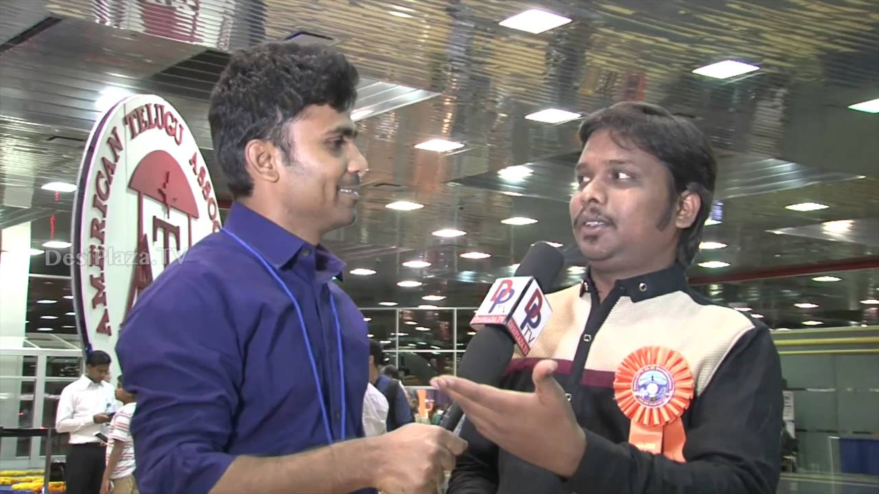 Imitation Raju speaking to Desiplaza TV at ATA Convention , Chicago.