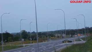 GOŁDAP. Przestrzeganie znaku stop na skrzyżowaniu DW650 i DK65