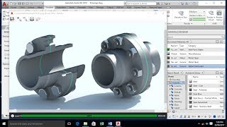 AutoCAD 3D Modeling - Pipe Flange Joint - Piping Darwing - AutoCAD 2018