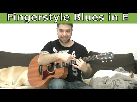 Lesson: Fingerstyle Blues in E (23 Soloing Ideas & Tips) - Guitar Tutorial w/ TAB
