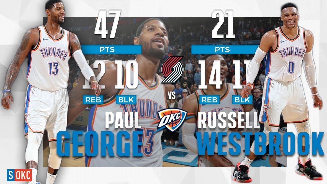Paul George And Russell Westbrook Got Double Triple-Doubles