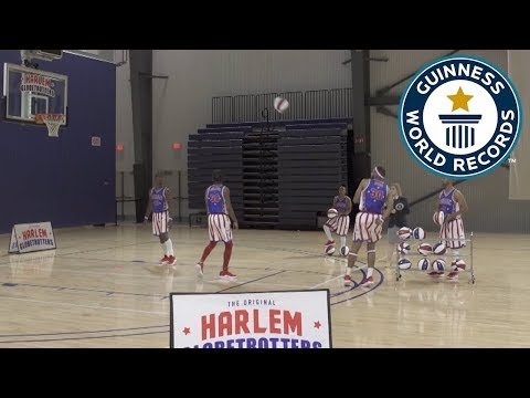 Most behind-the-back basketball three pointers in one minute – Guinness World Records Day 2018