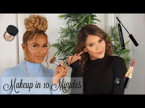 MAKE UP IN 10 MINUTES CHALLENGE   Life of Mariah & Yanitza