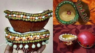 Decorative idea of kudukalu decoration for wedding || coconut decoration