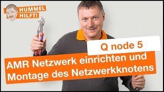 QUNDIS AMR-Zählernetzwerk einrichten // Montage des Netzwerkknotens Q node 5