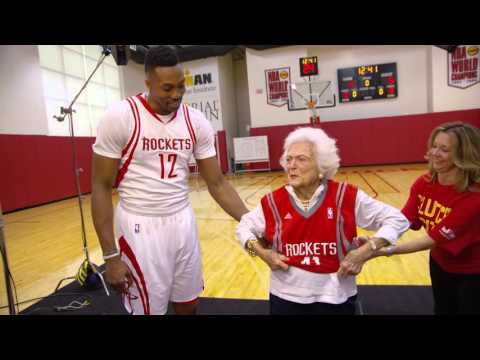 It's 12:41. Dwight Howard Meets Barbara Bush