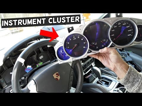 HOW TO REMOVE AND REPLACE INSTRUMENT CLUSTER GAUGES ON PORSCHE CAYENNE S TURBO