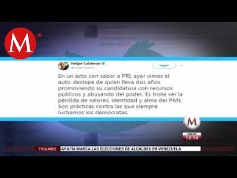 Destape de Anaya, evento con sabor a PRI: Calderón